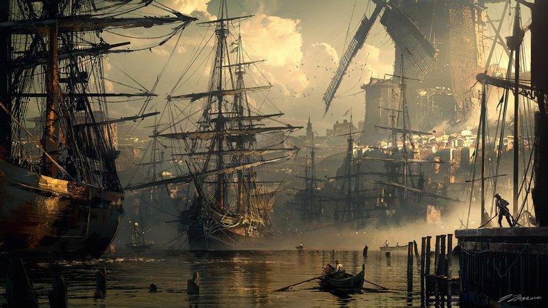 7 Ships 2560x1440 wallpaper